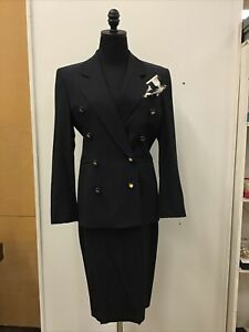 NWT $1,480 Escada Margaretha Ley 2 Pc Skirt Suit Jacket Sz 34/4 Skirt Sz 36/6