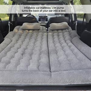 Inflatable Car Air Bed Mattress Back Seat Cushion 2 Pillows+ free Air Pump