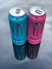 Monster Energy Drink Ultra Fiesta And Rosa 16oz Cans Set. Total 2 Full Cans