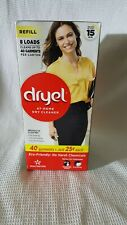 Dryel At-Home Dry Cleaner Refill Kit Booster Spray 8 Cleaning Cloths New! Sealed