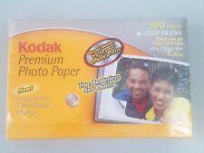 "Kodak Premium Photo Paper 4"" x 6"" Gloss Finish 100 Sheets NEW Sealed"