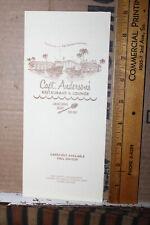 Vintage Capt. Anderson's Restaurant & Lounge Menu Panama City Beach Patronis Fla