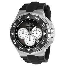 Invicta Excursion 23045 Men's Round Black Chronograph Date Analog Silicone Watch