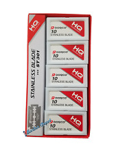 100 Dorco ST-301 Stainless Double Edge Razor Blade Platinum - Barber Supply