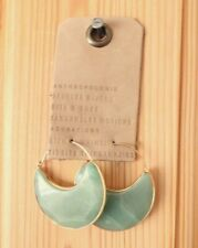 Anthropologie Moon Dancer Crescent Earrings, Green, Brand New