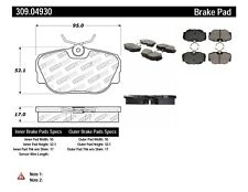 Disc Brake Pad Set Front,Rear Stoptech 309.04930