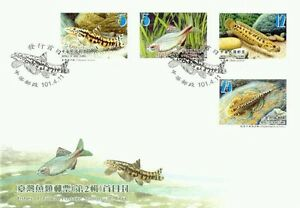 Fishes of Taiwan (II) 2012 Animal Fauna Marine Life Underwater River (stamp FDC)