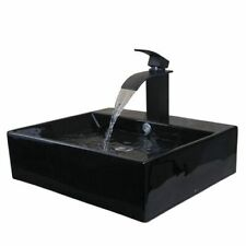 Bathroom Sink Lavatory Faucet Set Tap Mixer Washbasin Faucets Waterfall Drainer