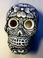 Hand Painted Dia De Los Muertos Day of Dead Plaster Mini Art Skull