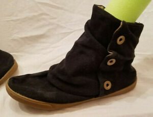 Women's Mossimo Supply Co. Shoes Black Canvas Sz 9 Booties Flat