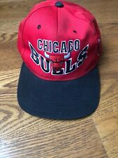 Vintage 1990s Chicago Bulls Red NBA Basketball Snapback Hat Cap Spell Out