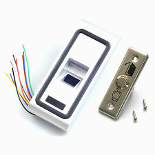 Fingerprint Entry RIFD Card Reader Door Access Control System Narrow Exit Button