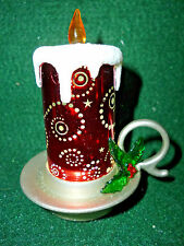 Hallmark Gift  Bag  Lighted  Red  Candle Snow Globe  Swirling Glitter  NEW