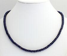 Collar de ZAFIRO PIEDRA PRECIOSA CADENA fecettierte RONDELL Azul 46cm