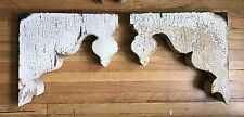 Pair Antique Victorian Corbels Gothic Architectural Fretwork 1880's