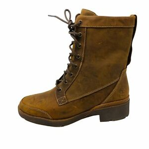 New Timberland Women Graceyn Lace up Lug Sole Boots Sz 7.5M Brown Waterproof NIB