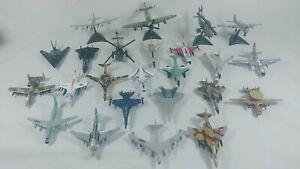 "Lot of 24 Vintage Diecast Military Airplanes 3-4"" Maisto, Ertl, USA USAF Marines"