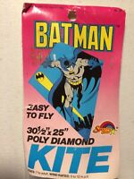 "Vintage Batman Spectra Star Poly Diamond 30.5"" x 25"" Kite NIP 1990 DC Comics NOS"