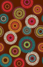 FLORAL Modern Motiff PAPER TABLE COVER~Birthday Party Supplies Cloth Adult Decor