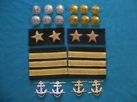 Soviet Navy patches and buttons. USSR Naval officer uniform 1960' s