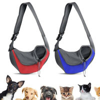 Pet Puppy Mesh Sling Carry Backpack Dog Cat Carrier Travel Soft Tote Bag