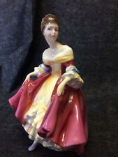 Royal Doulton Figurine Southern Belle Hn 2229 Peggie Davies Cpr 1957 Red, Yellow