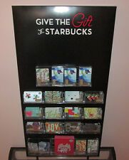 Give the Gift of Starbucks 2016 Holiday Gift Card Display w/ 231 Original Cards