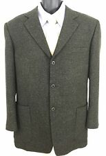 Rogatis Lanificio Fratelli Bacci Woven Wool Mens Sport Coat Blazer Sz 43R Black