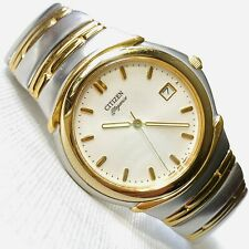 Citizen Elegance Sapphire Crystal 36mm Men's Two Tone Date Watch 2510-H21483