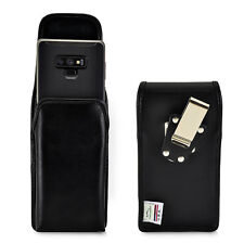 Samsung Note 9 and 8 Holster Metal Clip Case Pouch Leather Vertical Turtleback