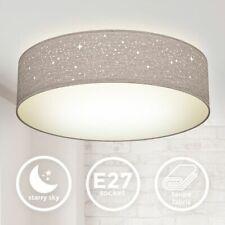 Deckenleuchte Sterndekor Stoff-Lampe Textil Kinderzimmer Schlafzimmer taupe E27