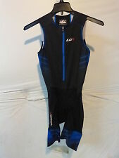 Louis Garneau Pro Carbon Triathlon Suit Men's Small Black/Blue Retail $155