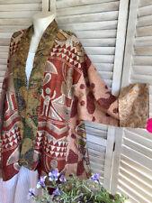 10 pc lot of indian handmade silk kantha Reversible jacket summer wear silk Coat
