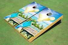 Custom Corn Hole Margarita Glass Parrot Graphic Custom Cornhole Board