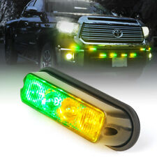 Xprite 4 LED Emergency Warning Strobe Lights for Vehicle Deck Grille Side Marker