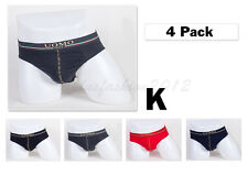 """4pc S 28-30"""" Stretchable Cotton Mens Briefs Soft Bulge Pouch Underpants NEW"""