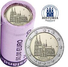Kölner Dom 25 x 2 Euro Deutschland 2011 bankfrisch in original Rolle Mzz. F