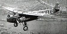 F-VIII Fokker Passenger Transport Airplane Desktop Wood Model Big New