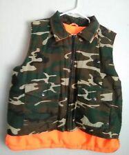 Sports Afield Reversible Hunting Vest Men's Size L Camo & Orange