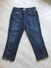 Bonita Damen Stretch 3/4 Jeans Hose Gr. 40 blau TOP