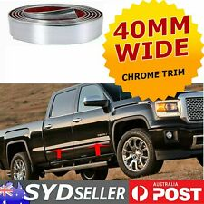 Auto Cab Chrome Trim Bumper Door Body Mouldings Strip Self-Adhesive 40mm x 12M