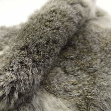 """Genuine Naturally Rabbit Fur Skin Tanned Leather Hides Craft Gray Pelts 16""""x9"""""""