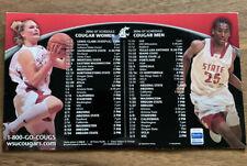 Washington State University Cougars 2006/2007 Basketball Schedule Magnet WSU