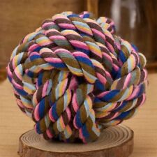Cottons Chews Pet Dogs Cats Play Toy Braided Bone Knot Ball