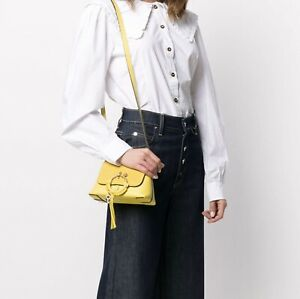 See by Chloé  Mini JOAN  Leather & Suede Hobo Verdant Yellow MSRP $320
