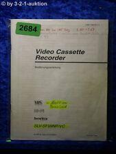 Sony Bedienungsanleitung SLV SF99NP /VC Video Cassette Recorder (#2684)