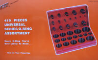 Rubber Seal Assortment Kit Set 407 Piece SAE O Ring//Toric Joint Universal