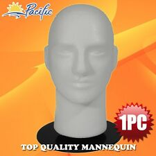 "Male MANNEQUIN 11"" head with holder stand display wig hat glasses"