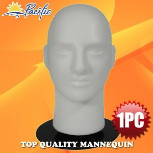 """Male MANNEQUIN 11"""" head with holder stand display wig hat glasses"""