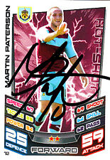 Burnley F.C Martin Paterson Hand Signed 12/13 Championship Match Attax.